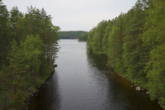 Flow between the lakes, the national Park Repovesi, Finland Stock Photos