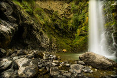 Flow. Long exposure waterfall, San Luis, Argentina Royalty Free Stock Photo