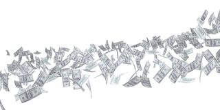 Flow of money. Dollar Stock Photo