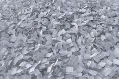 Flow of paper sheets stock photography