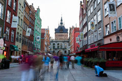 The flow of people in Golden Gate in Gdansk Royalty Free Stock Photography