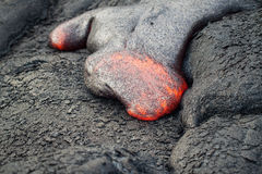 Flow of red hot lava Royalty Free Stock Photos