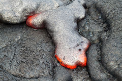 Flow of red hot lava Royalty Free Stock Photography