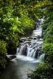 The flow of the river. With a small waterfall Stock Images