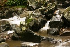 Flow of river water Stock Photography