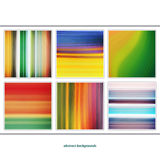 Flow set. Vector wallpaper. set of colorful, textured backgrounds Stock Photo