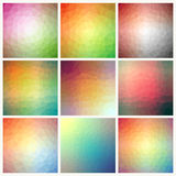 Flow of spectrum effect. Polygonal background Royalty Free Stock Image