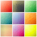 Flow of spectrum effect. Polygonal background Stock Images
