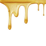 Flow of sweet honey on the white background Stock Images