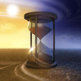 The flow of time. And hourglass Stock Photo