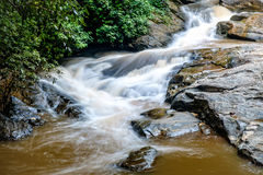 Flow of water at Mae Sa waterfall Stock Photo