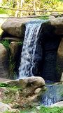 Flow water over stones daylight view royalty free stock photography