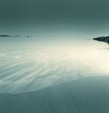Flow, Water, Sand, Blue. Ebb tide in late afternoon, blue Stock Photos