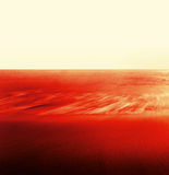 Flow, Water, Sand, Red. Ebb tide in late afternoon, red Stock Photography