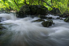 The flow of the water Stock Photography