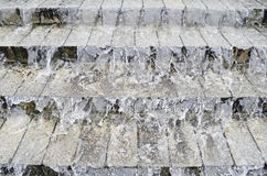 Flow of water on stone steps Royalty Free Stock Photo