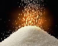 Flow of white sugar Royalty Free Stock Images