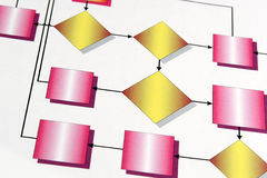Flowchart Background. Colorful flowhcart for background Stock Image