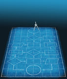 Flowchart blueprint plan process management vector illustration