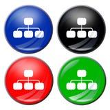 Flowchart button Stock Photography