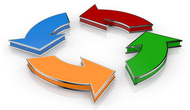 Flowchart diagram Stock Photo