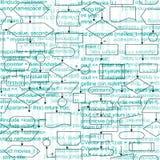 Flowchart diagrams background Stock Photo