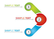 Flowchart element. Abstract business illustration for your template Royalty Free Stock Photo