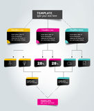 Flowchart tab. Infographic element. Stock Images