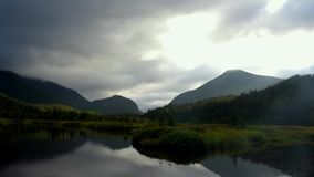The Flowed lands in the Adirondack Mountains, High peaks region.  stock video footage
