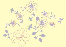 Flower 01. Graphic design colorful floral background Royalty Free Stock Images