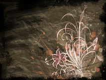 Flower. Floral design, grunge abstract background Royalty Free Stock Photo