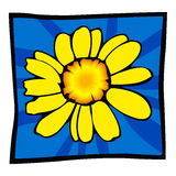 Flower. Simple illustration of flower created using adobe illustrator Stock Photography