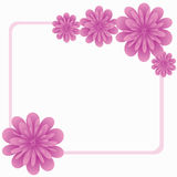 Flower. Beautiful framework with spring colours Royalty Free Stock Image