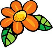 Flower. Color cartoon artwork line-art royalty free illustration
