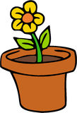 Flower. Color cartoon artwork line-art vector illustration