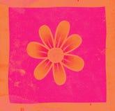 Flower. On grunge background illustration royalty free illustration