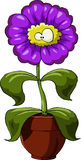 Flower. Cartoon flower on a white background, vector Stock Images