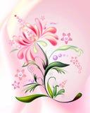 flower-2 Cor-de-rosa-alaranjado ilustração do vetor