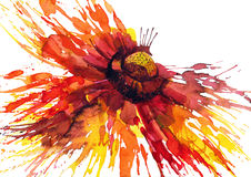 Flower. Beautiful abstract flower (Ekv painting Royalty Free Stock Photography
