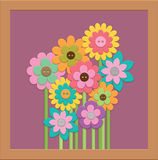Flower. An arrangement of flowers in a frame royalty free illustration