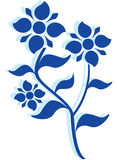 Flower. Beautiful vector image, illustration of a blue flower Stock Image