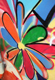 Flower. Graffiti of a flower with colored petals Royalty Free Stock Photos