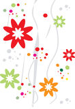 Flower. Scroll, cartouche, decor, illustration, Flower Royalty Free Stock Images