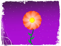 Flower. A flower on gradient background royalty free illustration