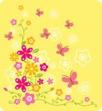 Flower. Vector of Butterfly and Floral Design stock illustration