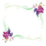 Flower. Decorative ornament vector background flower Royalty Free Stock Images
