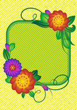 Flower. Background with strips and a square. A vector illustration Royalty Free Stock Photography