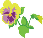 Flower. Lily in color 03 vector illustration