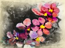 Flower abstract art watercolor Royalty Free Stock Images