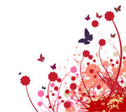 Flower abstract background. Abstract natural background preparation for the designer Stock Photos